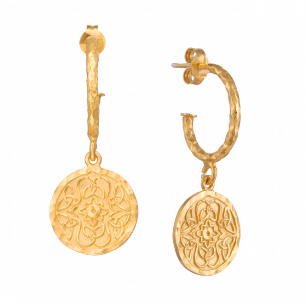 Kolczyki koła z medalikami Mokobelle