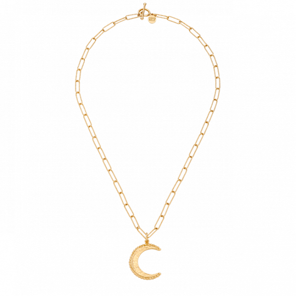 Chain type necklace with Mona pendant