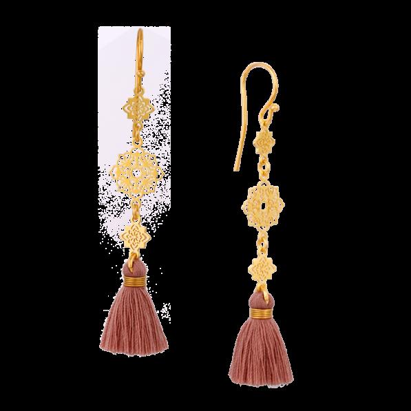 Camelia earrings with tassel