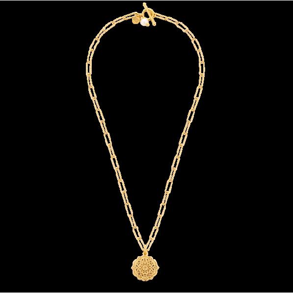 Chain necklace with Estella rosette